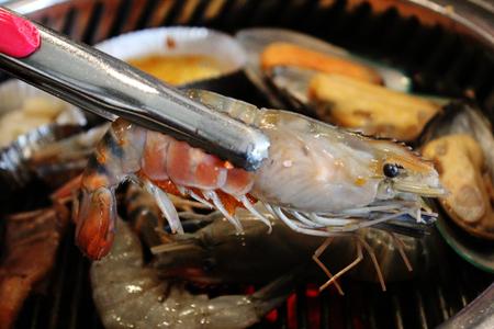grilled shrimp background 版權商用圖片