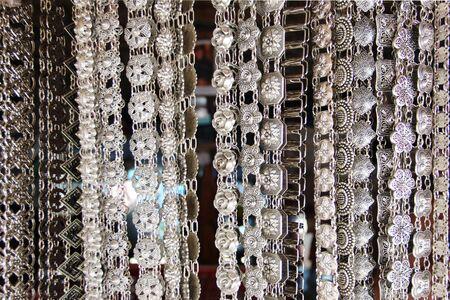 Silver belt Thai background