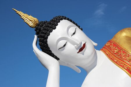 Buddha statue in Thailand background Stock Photo