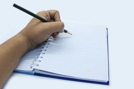 Hand written with pencil Background. Stock Photo