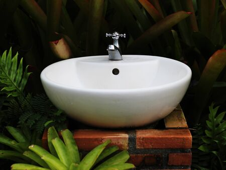 Wash your hands in the garden