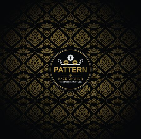 Line Thai, The arts of Thailand, Thai pattern background, vector illustration.
