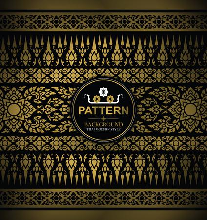 Line Thai, The Arts of Thailand, Thai pattern background. Imagens - 92051183
