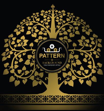 Line Thai, The Arts of Thailand, Thai pattern background.