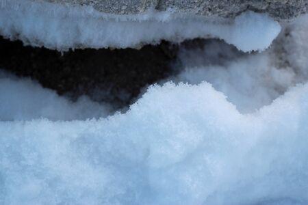 White snow season in Sapporo, Japan background.
