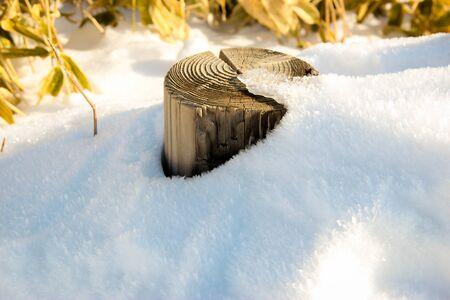 White snow season in Sapporo, Japan Archivio Fotografico
