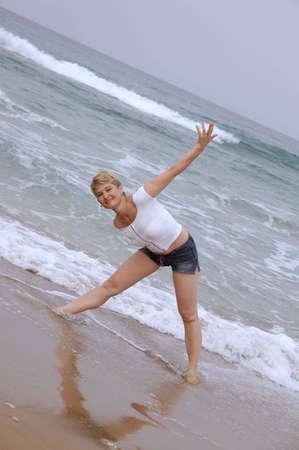 Mature women at beach