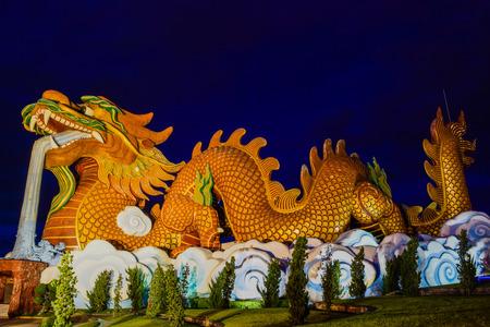 Golden Dragon Thailand Stock Photo
