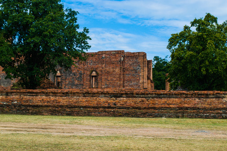 Wat Mahaeyong  Old Temple in Ayutthaya ,Thailand Stock Photo