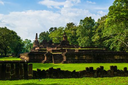 Wat Phra Kaew Old Temple in Kamphaengphet ,Thailand