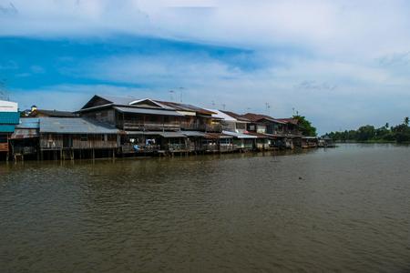 House on Tha Chin River, Suphan Buri, Thailand