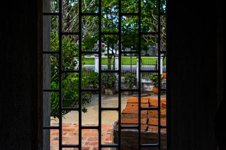 Wrought iron window Reklamní fotografie