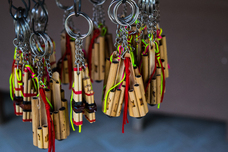Instrumento musical de bambú Tailandia