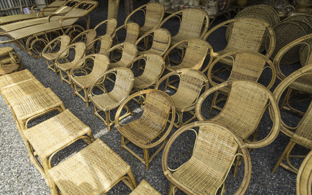 handcrafted: Wicker chairs shop