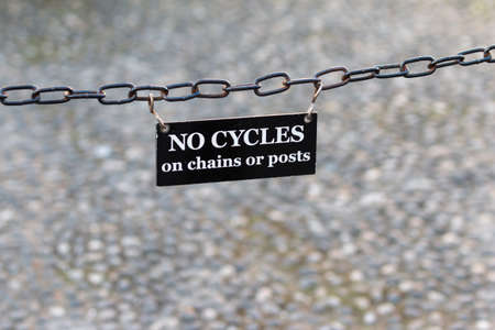 'cycles: No Cycles Banners: No cycles on chains or posts