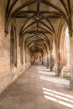 Old Castle Corridor in Golden Sunlight