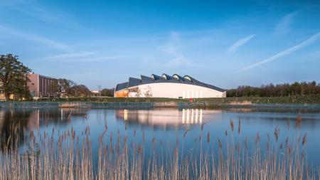 cambridgeshire: Cambridge Sports Centre, UK in Twilight