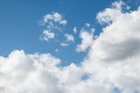 ozone layer: Two Cloud in Bright Blue Sky