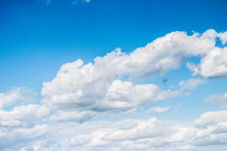 ozone layer: Cloudscape in Bright Blue Sky Stock Photo