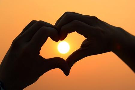 sun heart photo