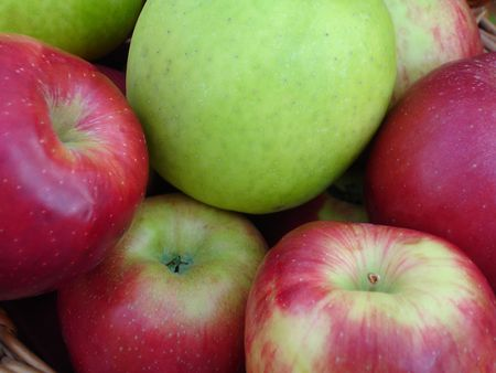 Red and Green Apples photo