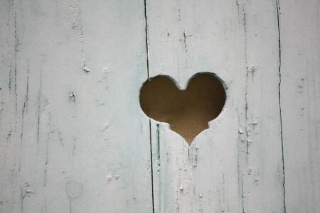 heart shape on wood window texture