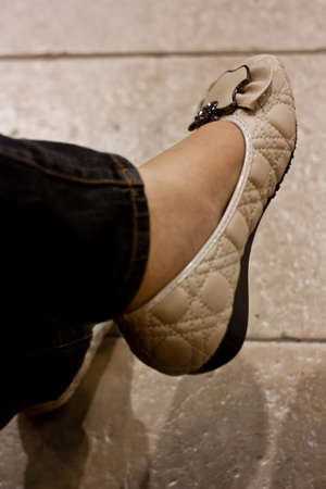 wearing shoes Stock Photo