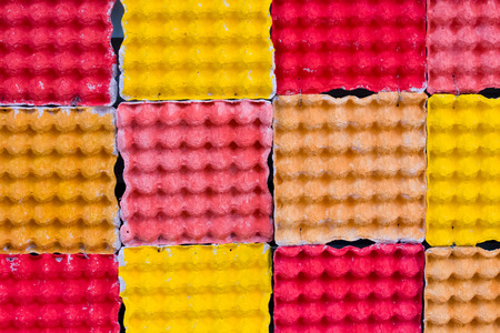 colorful egg crate as a decoration background photo
