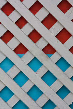 pattern of white wooden fence