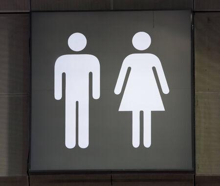 mannen en vrouwen: Separate toilet signs men women.