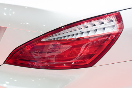 Tail light of a car Stock Photo