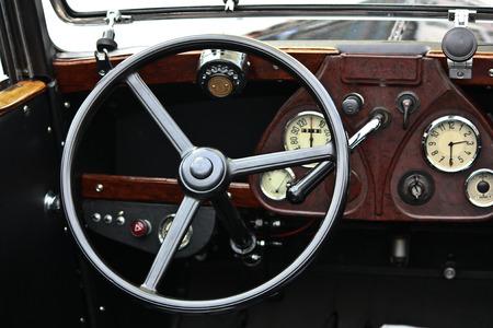 a vintage car console photo