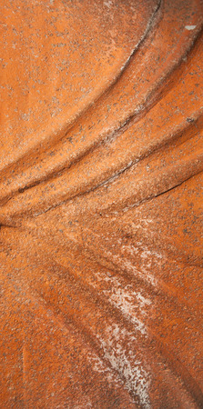 brown earthenware pottery with beautiful decoration texture Stock Photo
