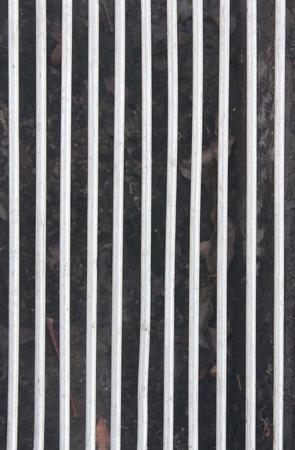 grating: solid steel grating pattern