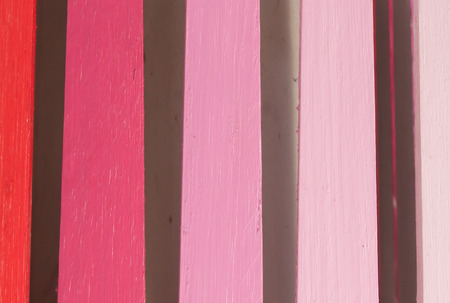 wooden slat with pink shading color