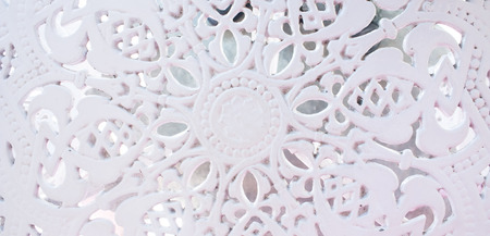 white metal background pattern from garden table Stock Photo