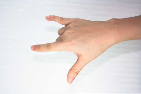 hand gesture with love sign