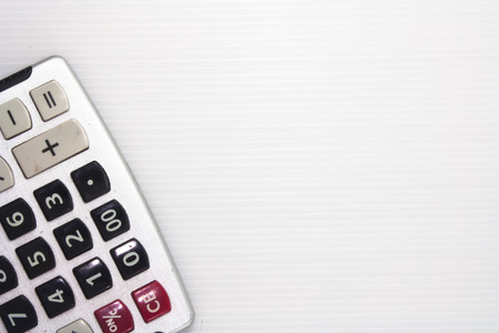 number keypad  of a calculator on white background