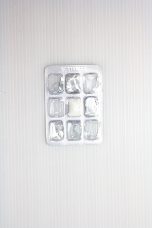 chewing gum package on white background