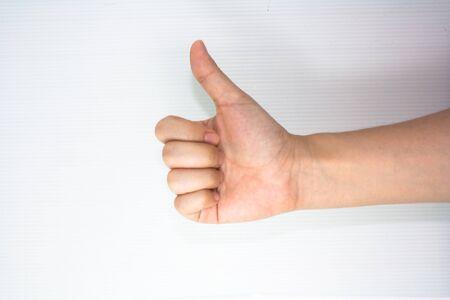 thumb up hand sign