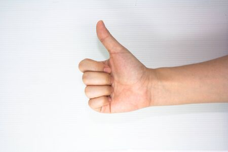 thumb up signe de la main Banque d'images