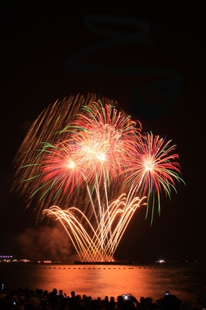 festive, fire, firework, fireworks,Pattaya Stock Photo - 11729800