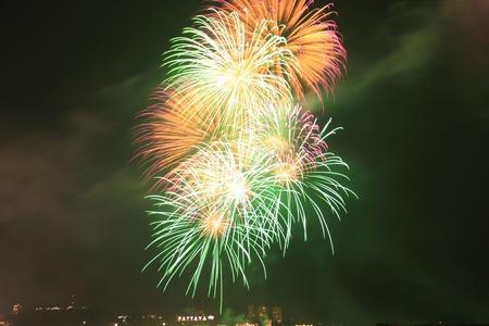 festive, fire, firework, fireworks,Pattaya Stock Photo - 11729802