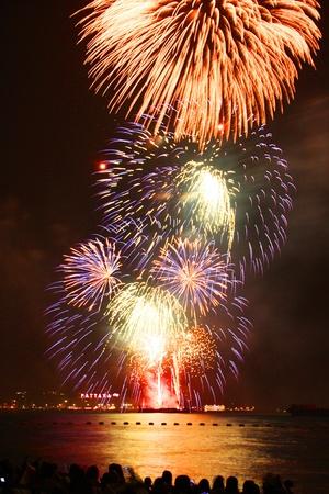 festive, fire, firework, fireworks,Pattaya Stock Photo - 11729796