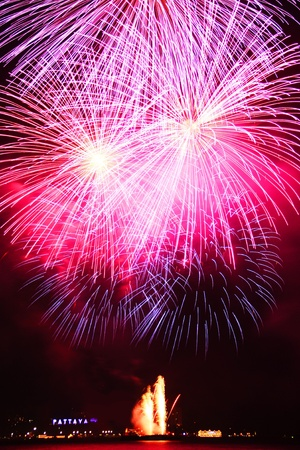 festive, fire, firework, fireworks,Pattaya Stock Photo - 11729798
