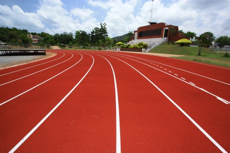 running on track: Sport stadium