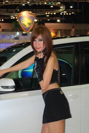 woman motor show