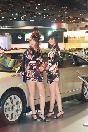 motor show: woman motor show Editorial