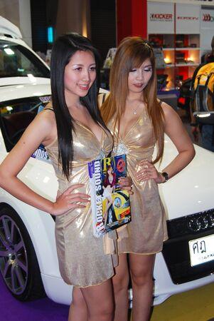 woman motor show Editorial