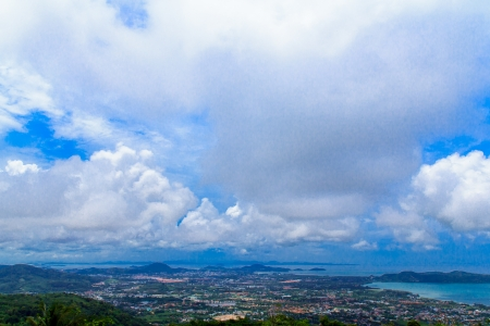 arial: Arial view over country